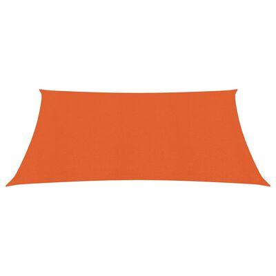 vidaXL Pânză parasolar, portocaliu, 3x3 m, HDPE, 160 g/m²