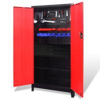 vidaXL Dulap scule cu organizatoare, roșu și negru, 90x40x180 cm, oțel
