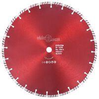 vidaXL Disc diamantat de tăiere cu turbo, oțel, 350 mm
