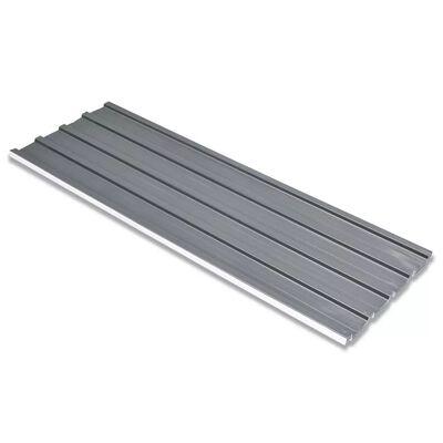 vidaXL Panouri pentru acoperiș, oțel galvanizat, gri, 12 buc.