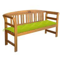 vidaXL Bancă de grădină cu pernă, 157 cm, lemn masiv acacia