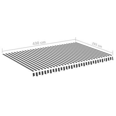 vidaXL Pânză de rezervă copertină, antracit și alb, 4,5x3 m