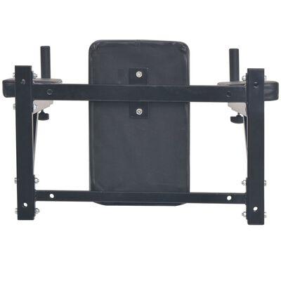 vidaXL Aparat exerciții triceps și abdomen, montare pe perete, negru