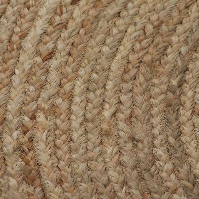 vidaXL Covor din iută împletită, 90 cm, rotund