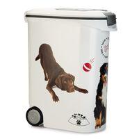 Curver Recipient hrană animale, câine, cu roți, 54 L