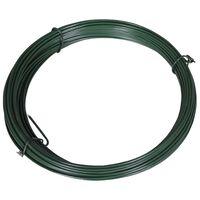 vidaXL Fir de tensionare pentru gard, 25 m, 1,4/2 mm, oțel, verde