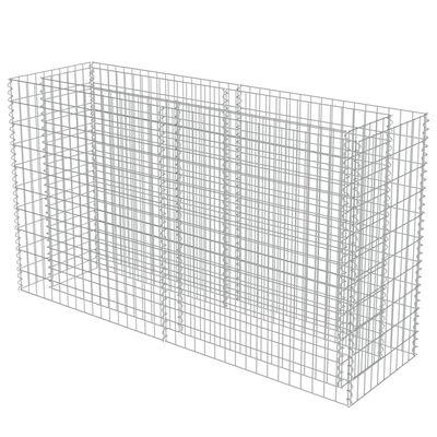 vidaXL Strat înălțat gabion, 180 x 50 x 100 cm, oțel galvanizat
