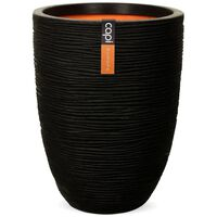 Capi Vas plante Nature Rib elegant, negru, 36 x 47 cm, adânc, KBLR782