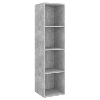 vidaXL Set dulap TV, 2 piese, gri beton, PAL