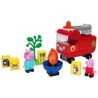 """BIG Set mașină de pompieri """"Bloxx"""" Peppa Pig, 40 piese"""