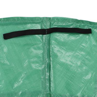 vidaXL Bandă de siguranță trambulină rotundă de 3,66 m, verde, PE, Verde