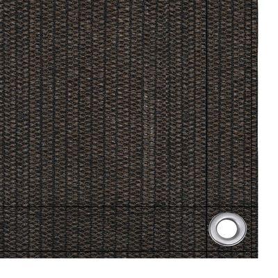 vidaXL Paravan de balcon, maro, 120x600 cm, HDPE