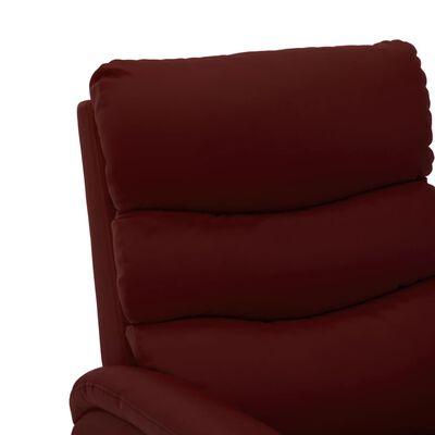 vidaXL Fotoliu rabatabil electric, roșu vin, piele ecologică