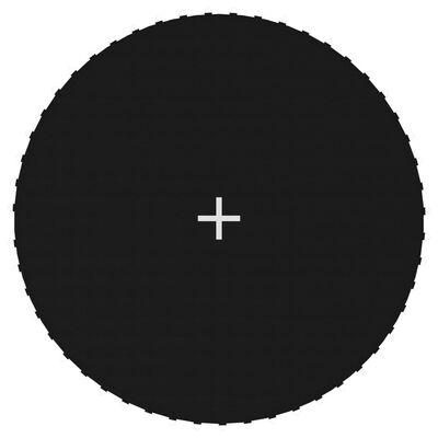 vidaXL Podea din pânză pentru trambulină rotundă de 3,05 m, negru