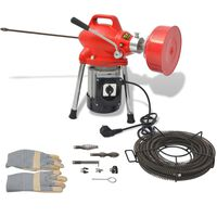 vidaXL Mașină curățare țevi, 250 W, 12,5 x 16 mm, 4,5 m x 9,5 mm