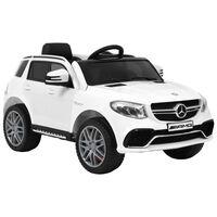 vidaXL Mașinuță copii Mercedes Benz GLE63S, alb, plastic