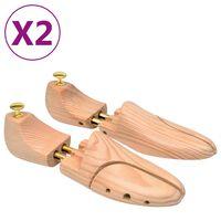 vidaXL Șanuri de pantofi, 2 perechi, mărime 38-39, lemn masiv de pin