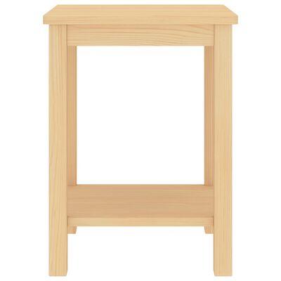 vidaXL Noptiere, 2 buc., lemn deschis, 35 x 30 x 47 cm, lemn masiv pin