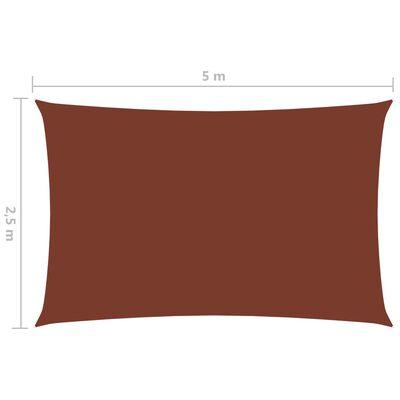vidaXL Parasolar, cărămiziu, 2,5x5 m, țesătură oxford, dreptunghiular
