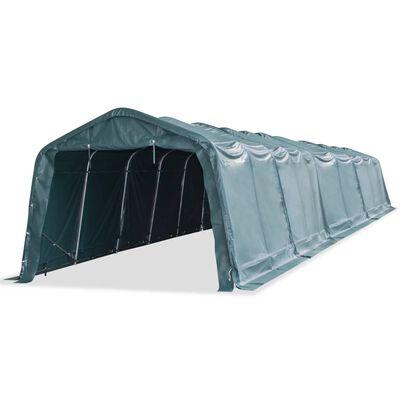 vidaXL Cort mobil pentru animale verde închis 3,3x16 m PVC 550 g/m²