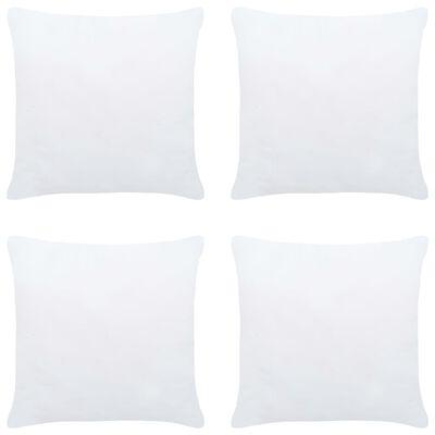 vidaXL Umpluturi de perne, 4 buc., alb, 50 x 50 cm