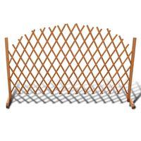 vidaXL Gard cu zăbrele, 180 x 100 cm, lemn masiv
