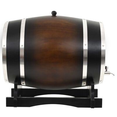 vidaXL Butoi de vin cu robinet, 35 L, lemn masiv de pin
