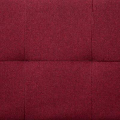 vidaXL Canapea extensibilă cu două perne, roșu vin, poliester