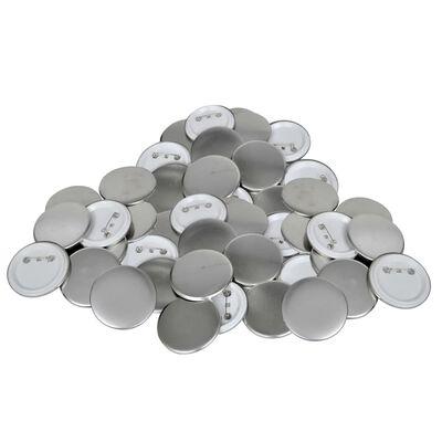 Piese ecuson cu agrafă de prindere pe spate, 500 buc., 58 mm