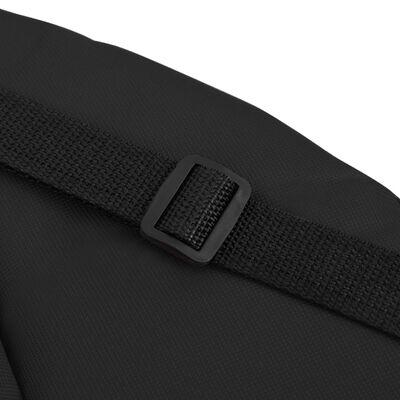 vidaXL Scaun pliabil de podea, 2 buc., negru, oțel și material textil