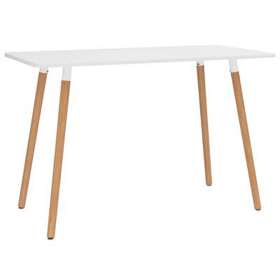vidaXL Set de masă, 7 piese, alb