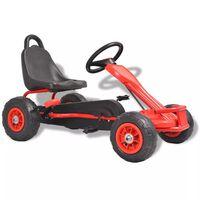 vidaXL Mașinuță kart cu pedale și roți pneumatice, roșu