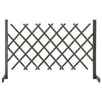 vidaXL Gard cu zăbrele de grădină, gri, 120x90 cm, lemn masiv de brad