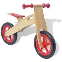 vidaXL Bicicletă pentru echilibru din lemn, roșu