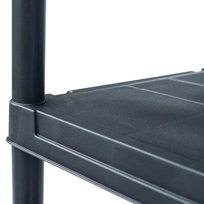 vidaXL Raft de depozitare, negru, 80 x 40 x 180 cm, plastic, 250 kg