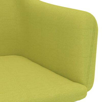 vidaXL Scaune de bucătărie, 4 buc., verde, material textil