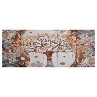 vidaXL Set tablouri din pânză, imprimeu copac, multicolor, 150x60 cm