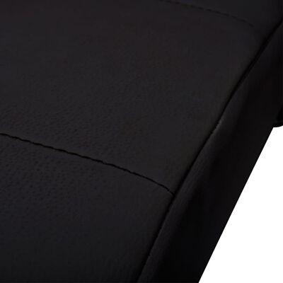 vidaXL Șezlong cu pernă, negru, piele ecologică
