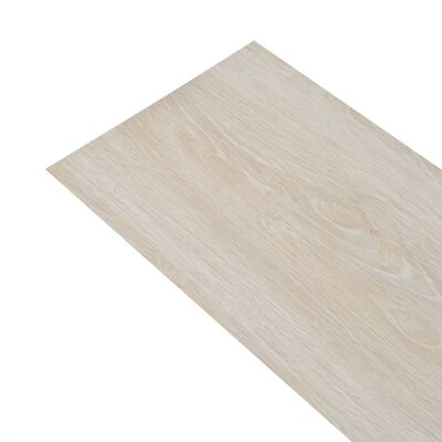 vidaXL Plăci pardoseală autoadezive stejar clasic alb 5,02 m² 2 mm PVC