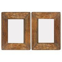 vidaXL Rame foto, 2 buc., 23 x 28 cm, lemn masiv reciclat și sticlă
