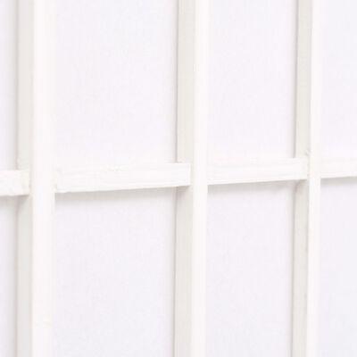 vidaXL Paravan pliabil cu 5 panouri, stil japonez, 200x170 cm, Alb