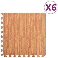 vidaXL Saltele de exerciții, 6 buc., fibră lemnoasă, 2,16 ㎡, spumă EVA