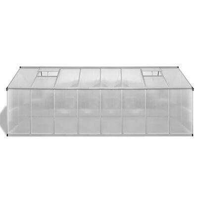 vidaXL Seră, 481 x 250 x 195 cm, aluminiu, 23,44 m³