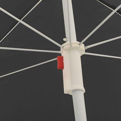 vidaXL Umbrelă de soare pentru exterior, stâlp din oțel, antracit, 180 cm
