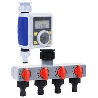 vidaXL Programator irigații digital cu un racord și distribuitor apă