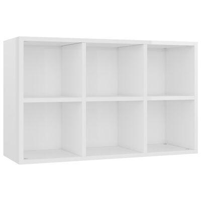 vidaXL Bibliotecă/Servantă, alb extralucios, 66 x 30 x 97,8 cm, PAL