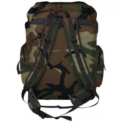 vidaXL Rucsac în stil militar, XXL, 65 L, camuflaj