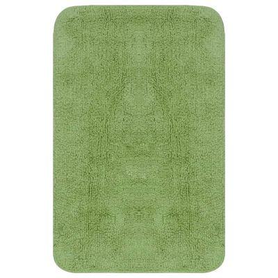 vidaXL Set covorașe baie, 2 buc., textil, verde