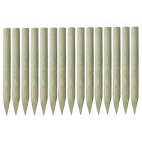 vidaXL Stâlpi de gard ascuțiți, 15 buc., 4x100 cm, lemn de pin tratat