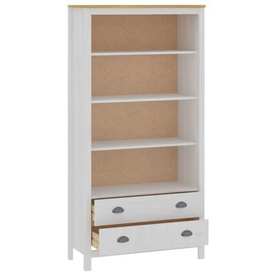 vidaXL Bibliotecă Hill Range, alb, 85x37x170,5 cm, lemn masiv de pin